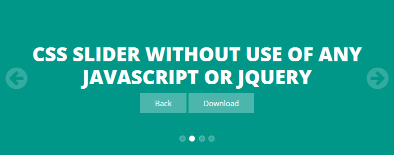 CSS Slider without use of any javascript or jQuery
