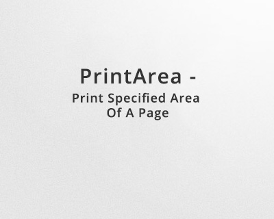 PrintArea - Print Specified Area Of A Page