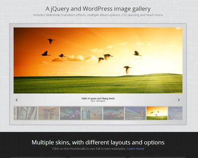 A jQuery and WordPress image gallery