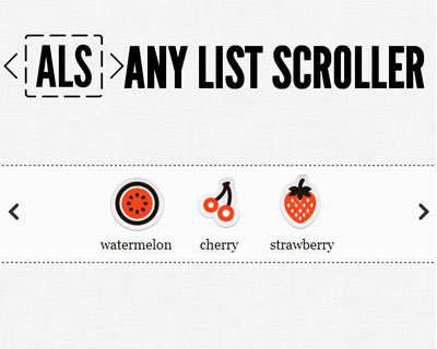 Any List Scroller – jQuery Plugin To Scroll Lists