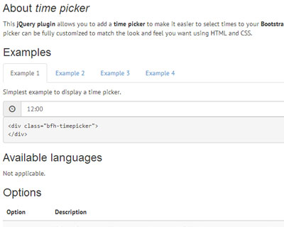Bootstrap Form Helpers Time Picker