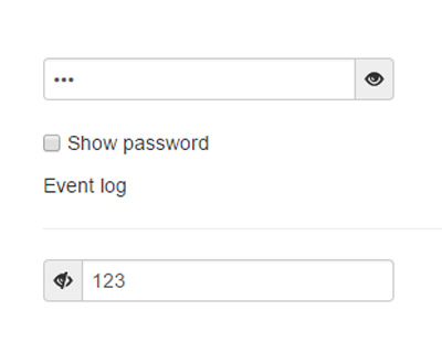 Bootstrap Show Password
