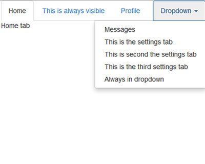 Droptabs: jQuery Plugin for Bootstrap Tabs