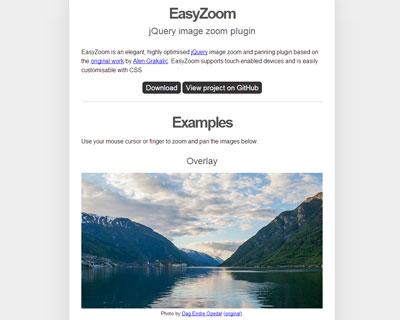 EasyZoom, jQuery image zoom plugin