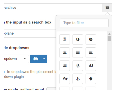 Font Awesome Icon Picker plugin for Bootstrap