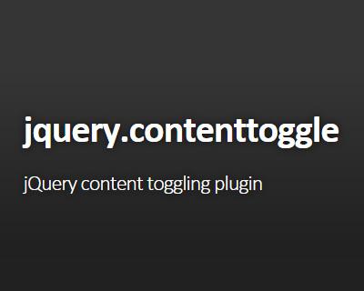 jQuery-contentToggle