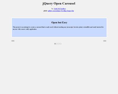 jQuery Open Carousel