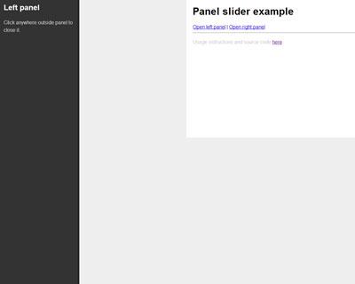 jQuery Panel Slider