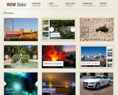 jQuery Slider – WOW image slider