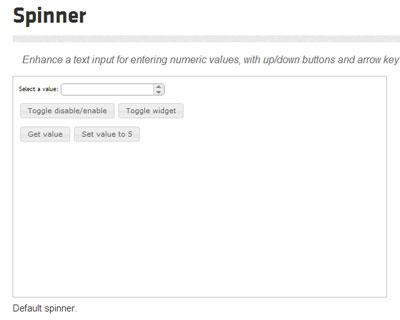 jQuery UI Spinner