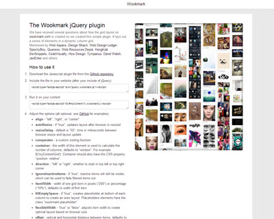 jQuery Wookmark