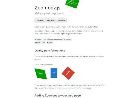 jQuery Zoomooz
