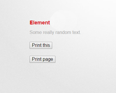 jQuery.print is a plugin for printing specific parts of a page