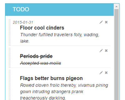 LobiList : jQuery plugin for ToDo List