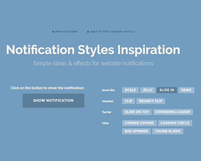 Notification Styles Inspiration