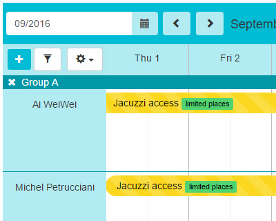 Pit-Scheduler : jQuery simple Scheduler Viewer