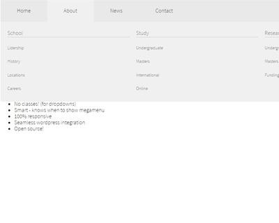 Responsive Cross-platform jQuery Mega Menu Plugin - megamenu-js