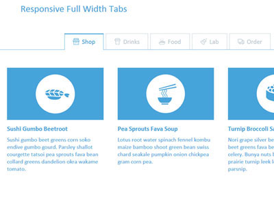 Responsive Full Width Tabs with CSS & JavaScript