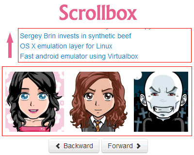 Scrollbox − jQuery Plugin to Scroll Like Carousel or Marquee