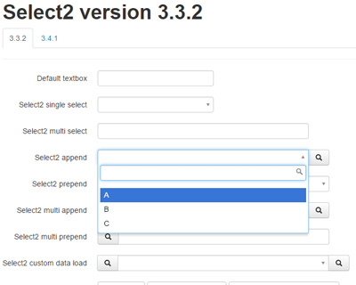 Select2 Bootstrap : jQuery Select box for Bootstrap