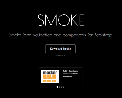 Smoke : jQuery Plugin for Bootstrap