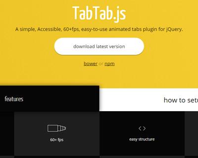 Tabtab.js - jQuery Animated Tabs Plugin