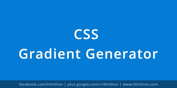 Css Gradient Generator Generate Css Gradients Background Html Lion