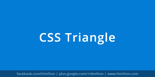 CSS Triangle - HTML Lion