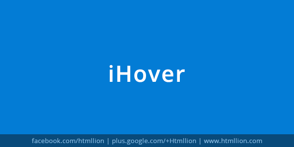 IHover Collection Of Hover Effects With CSS - HTML Lion