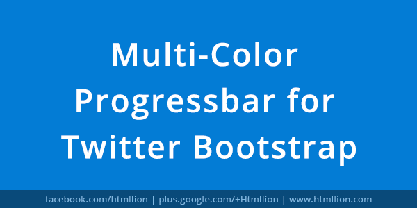 Twitter Bootstrap Multi Color Progress Bar A jQuery Plugin