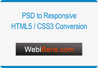 PSD to Responsive, HTML5/CSS3 Converstion